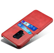 OPPRO OnePlus 8 Pro Case Kartenhalter aus schmalem Leder Rot