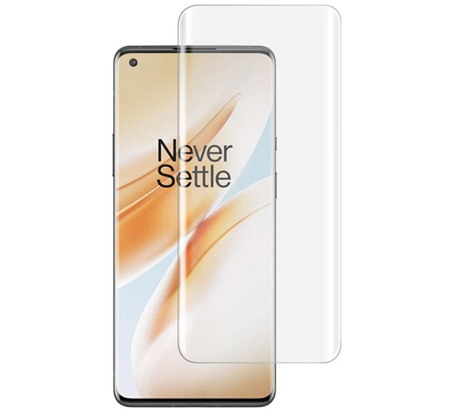 OnePlus 8 9H UV-Glas-Displayschutz Vollabdeckung