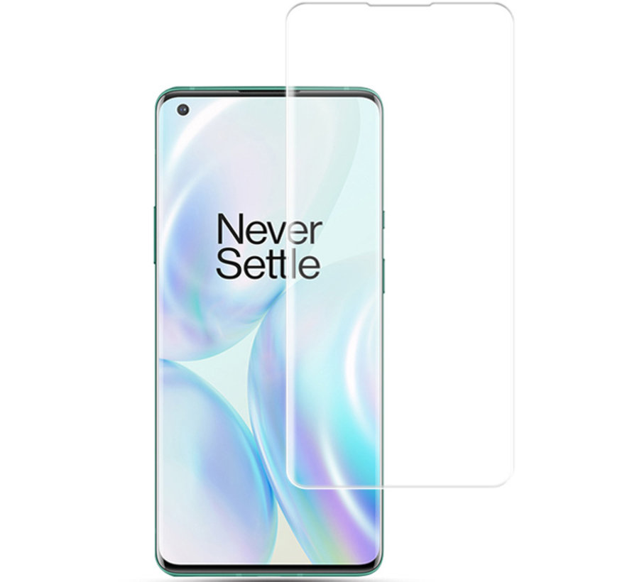 OnePlus 8 Pro 9H UV Glazen Screen Protector Full Cover