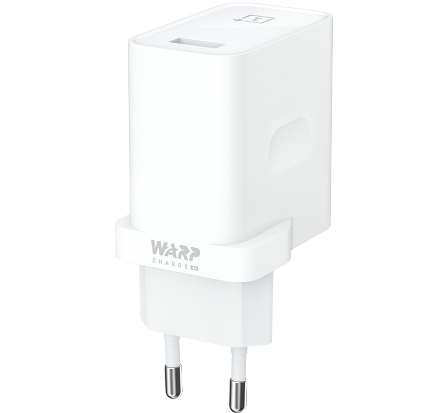USB Travel Charger Warp Charge 30 Power Adapter (EU) Wit