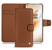 Noreve OnePlus 8 Pro Wallet Case Premium Nappa Brown