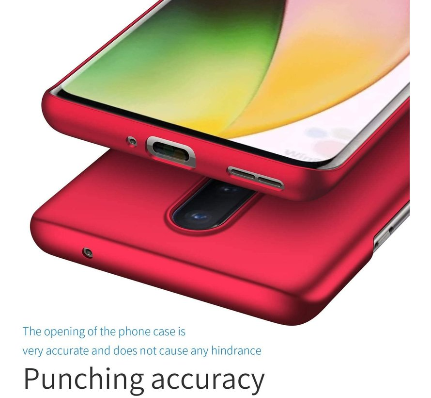 OnePlus 8 Case Ultra Slim Grip Rot