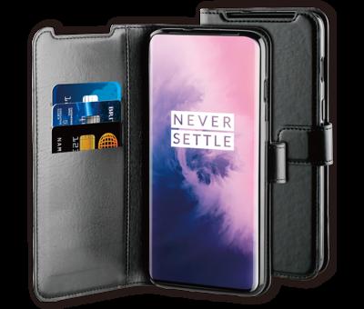 BeHello OnePlus 7 Gel Wallet Case Black