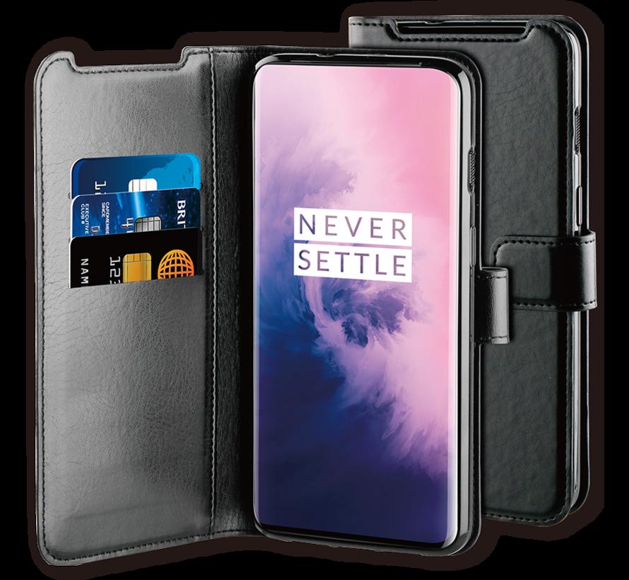 OnePlus 7 Hoesje Gel Wallet Zwart