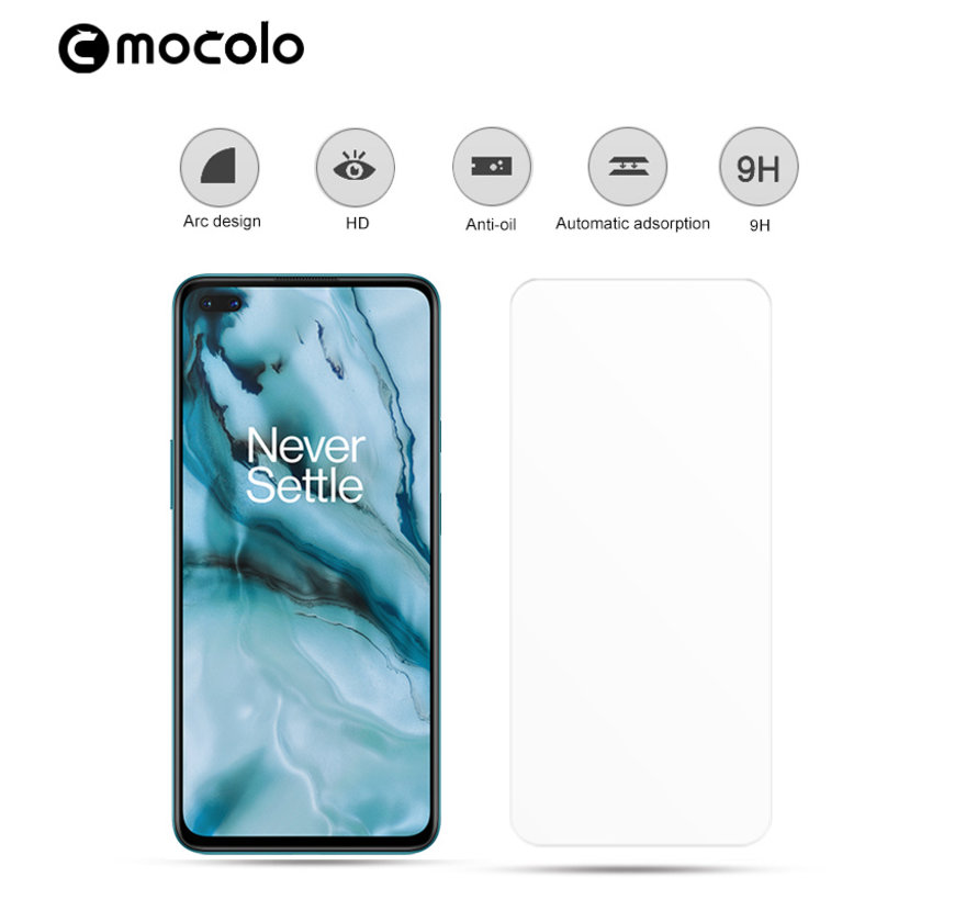 OnePlus Nord Displayschutzfolie 2.5D Gehärtetes Glas