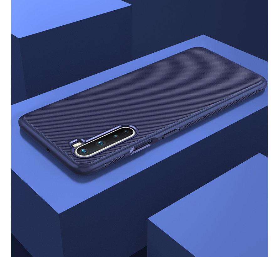 OnePlus Nord Case TPU GripLine Blau
