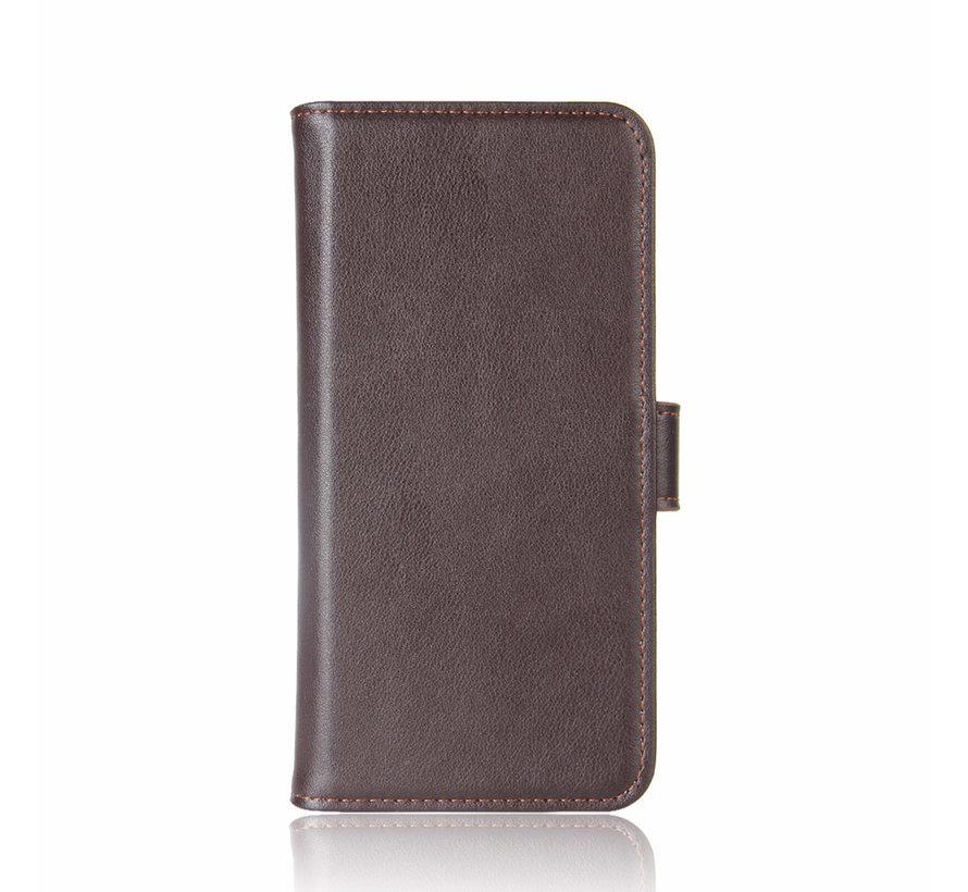 OnePlus Nord Brieftasche Etui Echtes Leder Braun