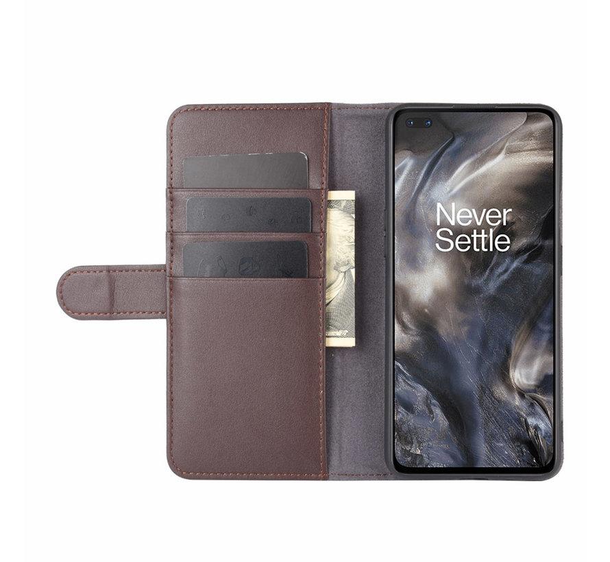 OnePlus Nord Wallet Hoesje Echt Leder Bruin