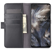 OPPRO OnePlus Nord Wallet Case Genuine Leather Black