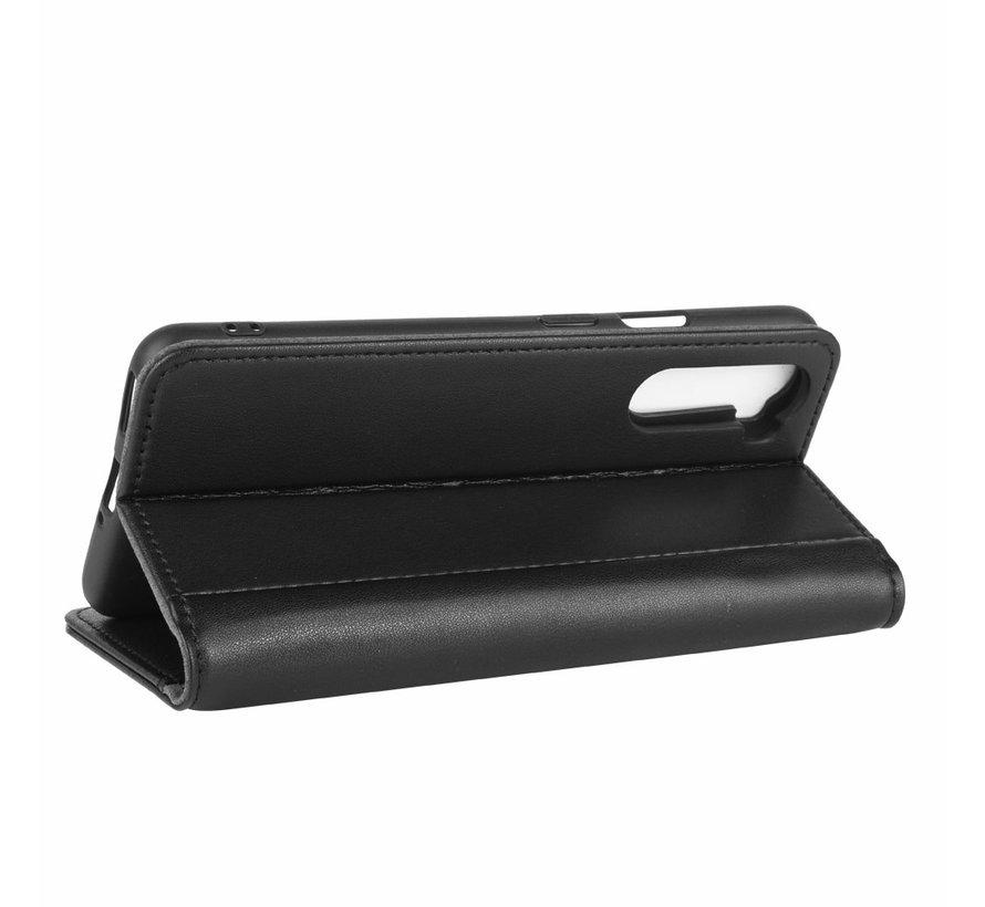 OnePlus Nord Wallet Case Echtleder Schwarz