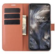 OPPRO OnePlus Nord Wallet Flip Case Bruin