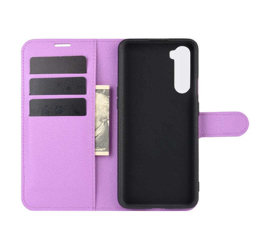 OnePlus Nord Wallet Flip Case Paars