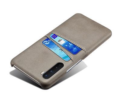 OPPRO OnePlus Nord Case Slim Leder Kartenhalter Grau