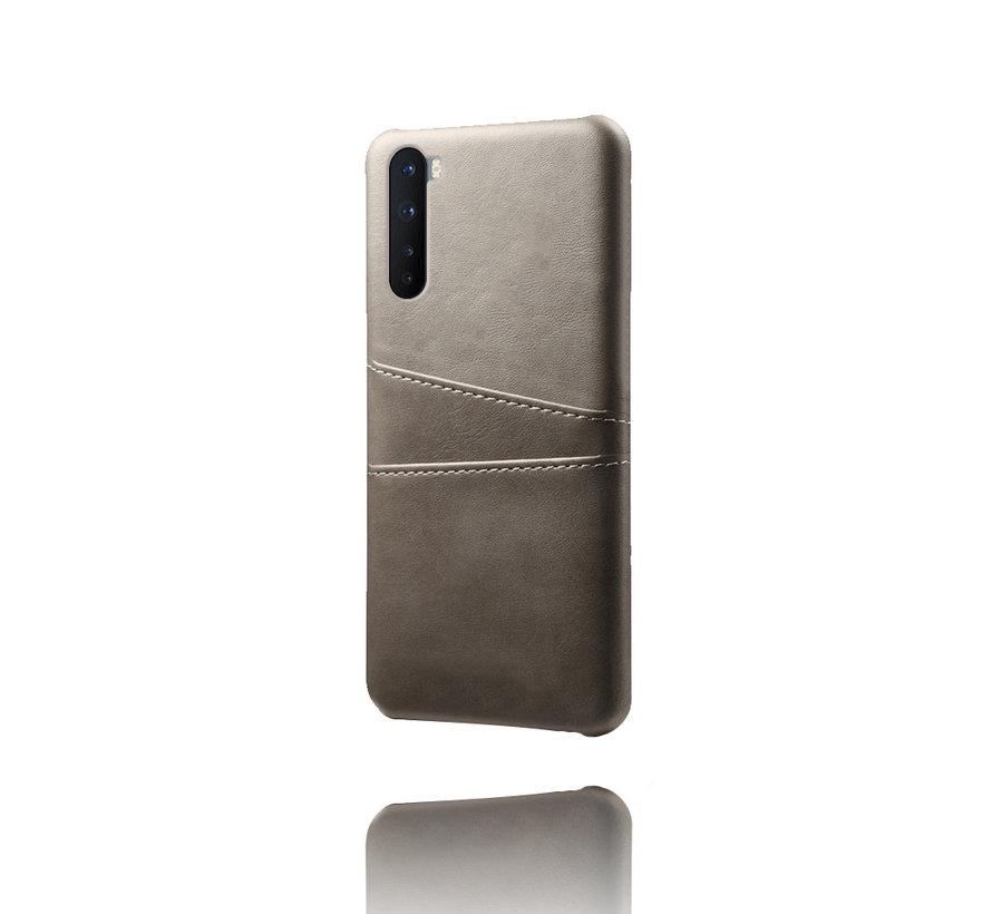 OnePlus Nord Case Slim Leder Kartenhalter Grau