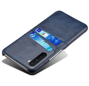 OPPRO OnePlus Nord Case Slim Leather Card Holder Blue