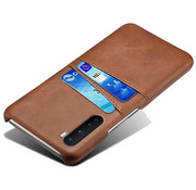 OPPRO OnePlus Nord Case Slim Leather Card Holder Brown