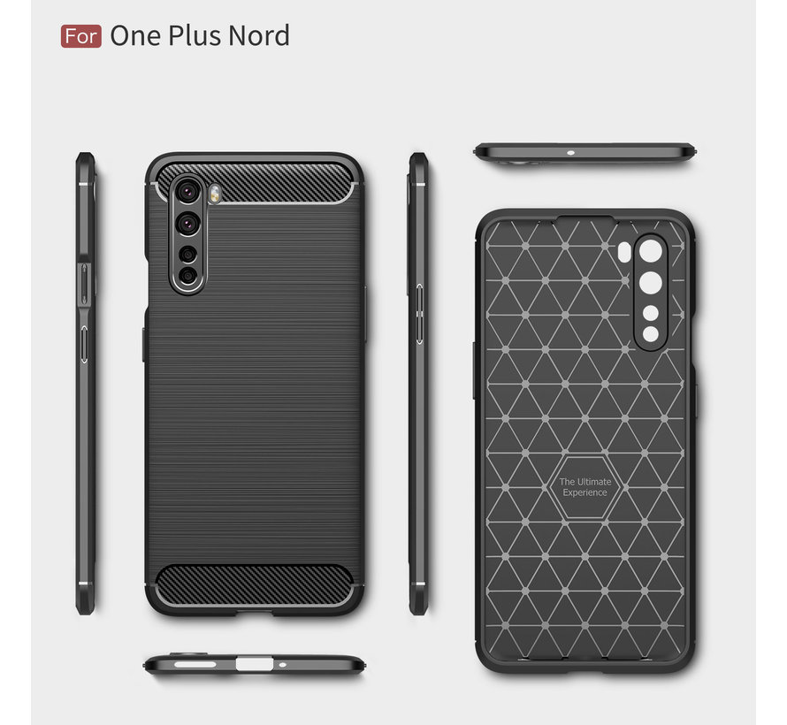 OnePlus Nord Case Brushed Carbon Black