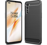 OPPRO OnePlus Nord Hoesje Brushed Carbon Zwart
