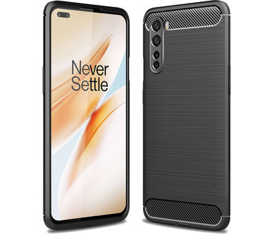 OPPRO OnePlus Nord Case Brushed Carbon Black