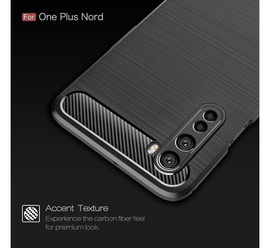 OnePlus Nord Gehäuse gebürstet Carbon Red