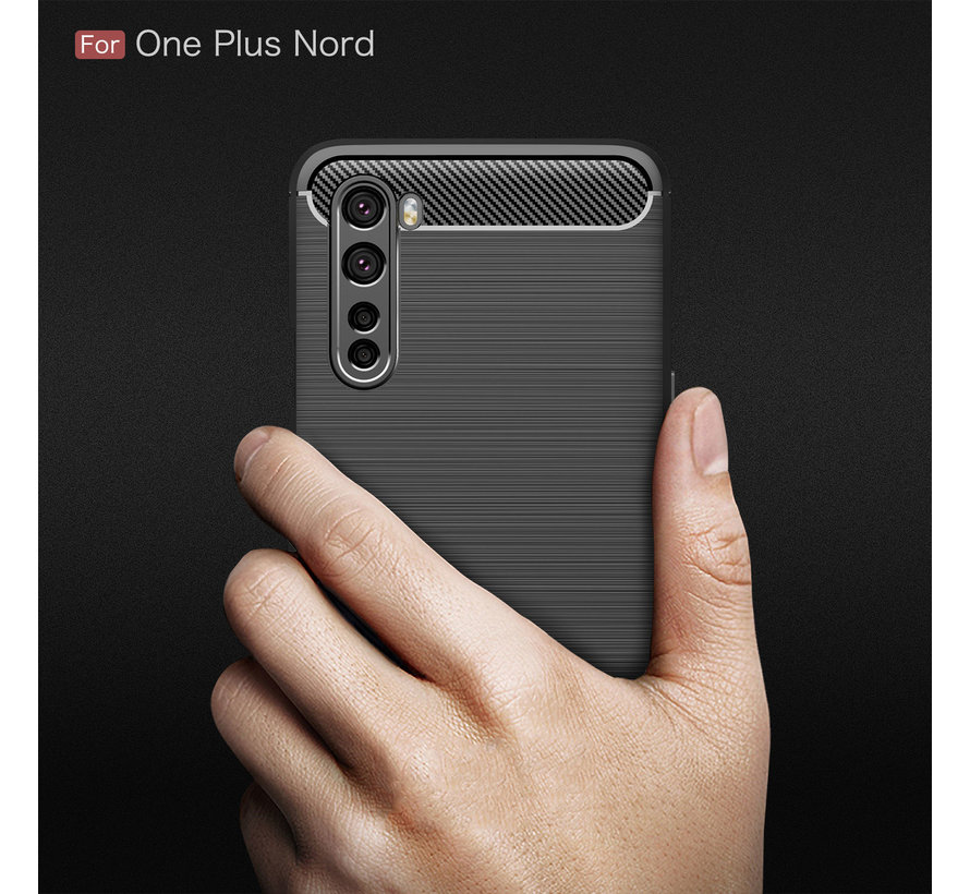 OnePlus Nord Case Brushed Carbon Red