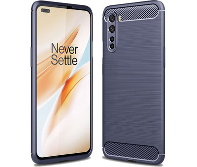 OPPRO OnePlus Nord Case Gebürstetes Carbonblau
