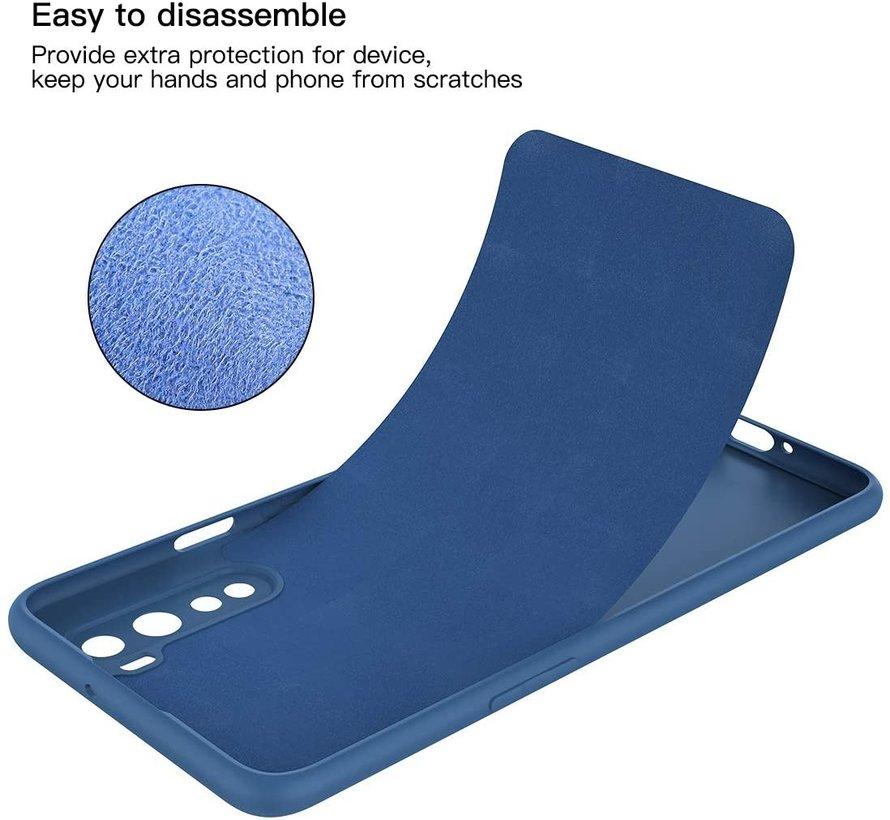 OnePlus Nord Hoesje Liquid Silicone Blauw