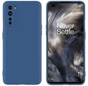 OPPRO OnePlus Nord Case Flüssiges Silikonblau
