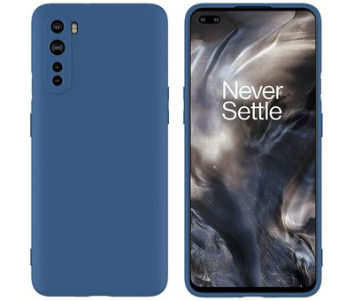 OPPRO OnePlus Nord Hoesje Liquid Silicone Blauw