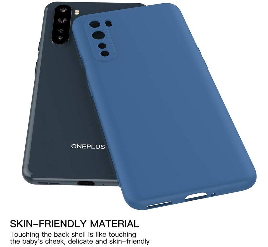OnePlus Nord Case Flüssiges Silikonblau