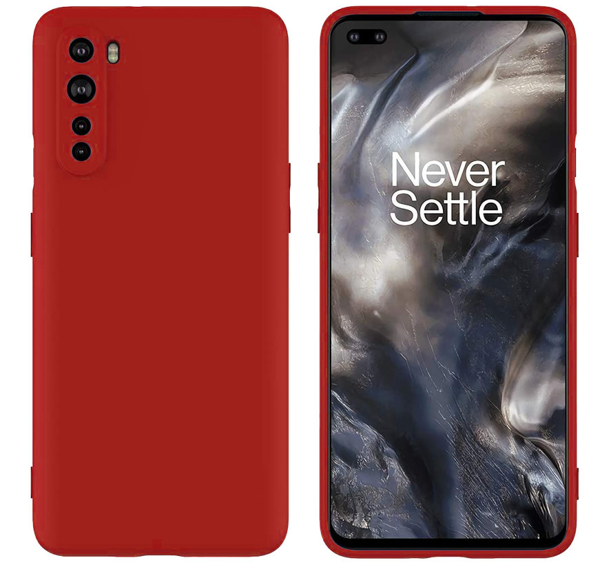 OnePlus Nord Hoesje Liquid Silicone Rood