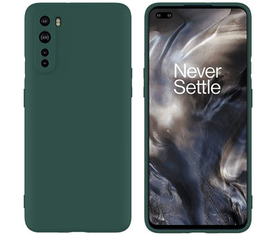 OPPRO OnePlus Nord Hoesje Liquid Silicone Groen