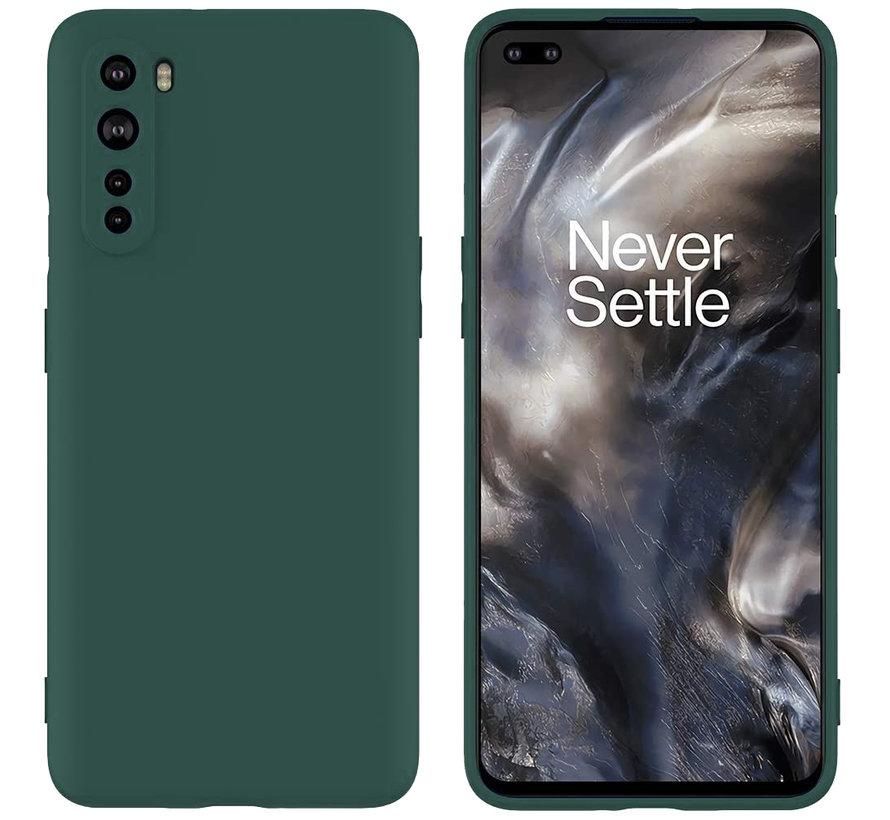 OnePlus Nord Hoesje Liquid Silicone Groen