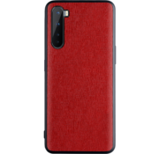 OPPRO OnePlus Nord Hoesje Canvas Grain Rood
