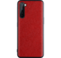 OnePlus Nord Hoesje Canvas Grain Rood