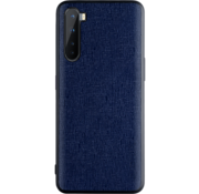 OPPRO OnePlus Nord Case Leinwand Grain Blue