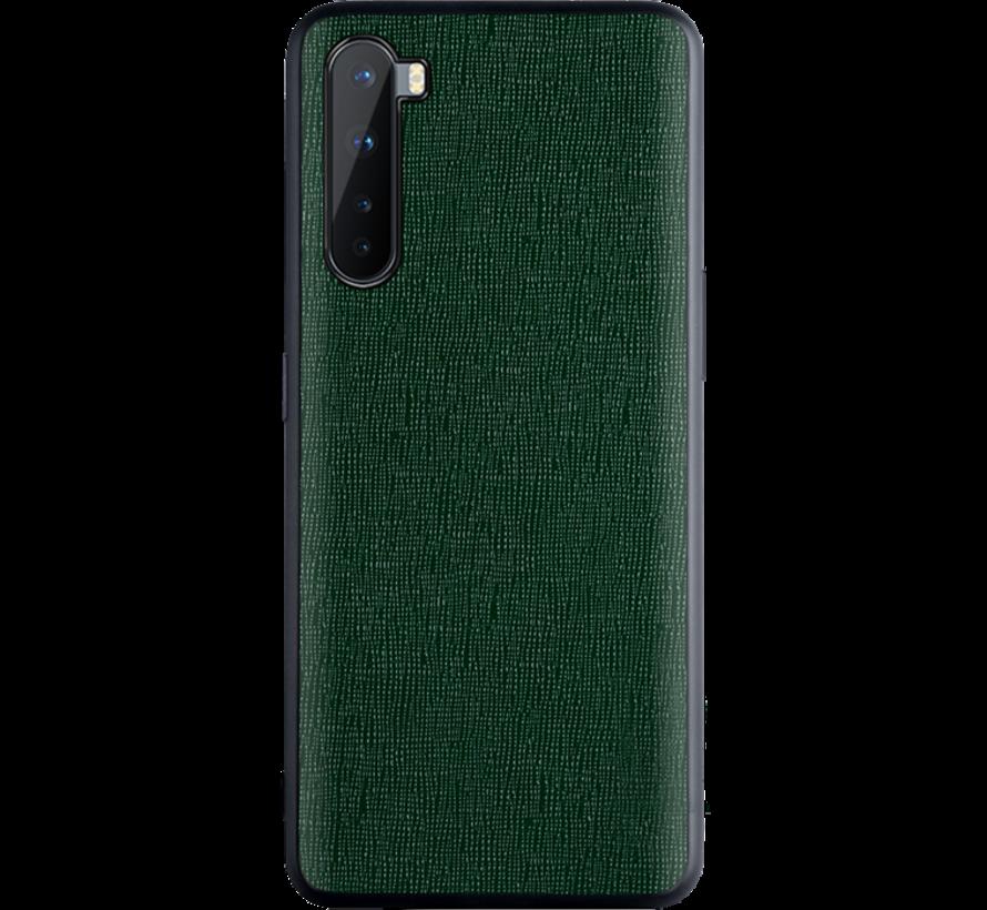 OnePlus Nord Case Leinwand Grain Green