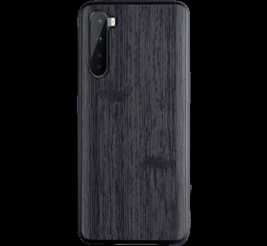 OnePlus Nord Hoesje Wood Grain Zwart