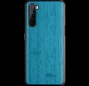 OPPRO OnePlus Nord Hoesje Wood Grain Blauw