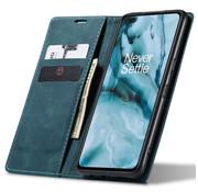 OPPRO OnePlus Nord Brieftasche Vintage Leder Blau