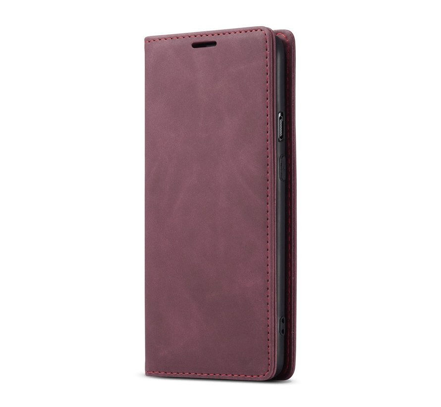 OnePlus Nord Wallet Hoesje Vintage Leder Rood