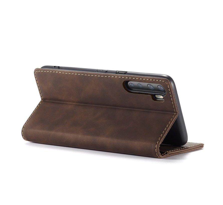 OnePlus Nord Wallet Hoesje Vintage Leder Bruin