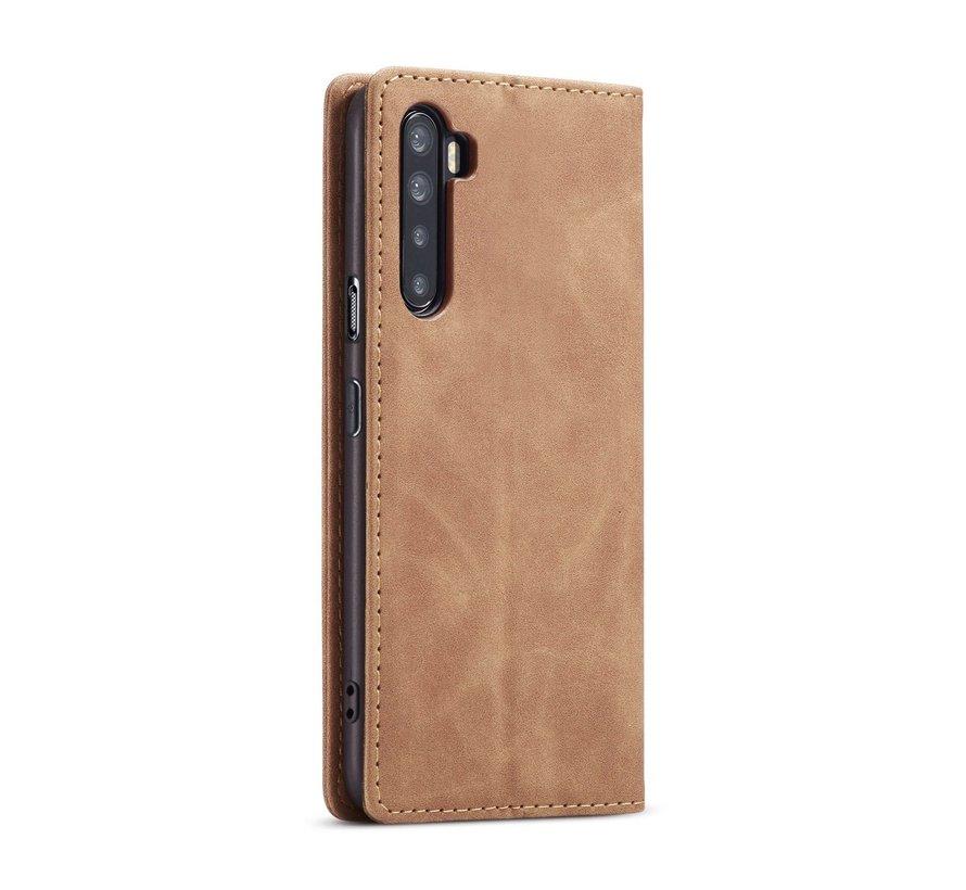 OnePlus Nord Brieftasche Vintage Leder Beige