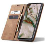 OPPRO OnePlus Nord Wallet Case Vintage Leather Beige