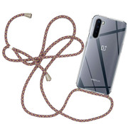 OPPRO OnePlus Nord Case with Cord Red & Gray