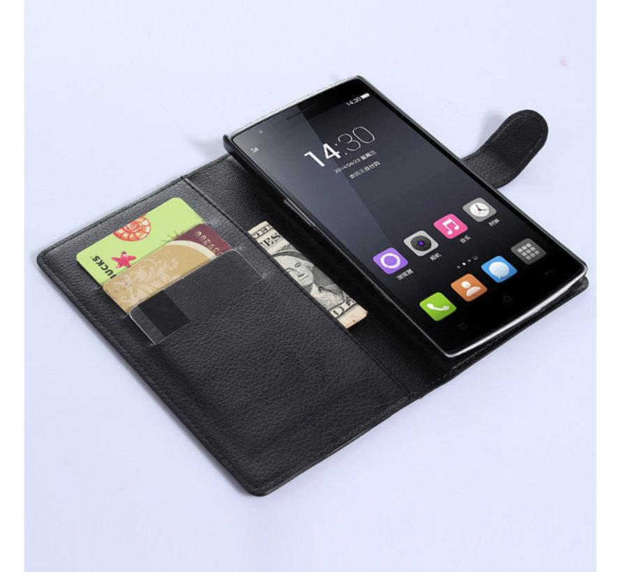 OnePlus One Wallet Flip Case Schwarz
