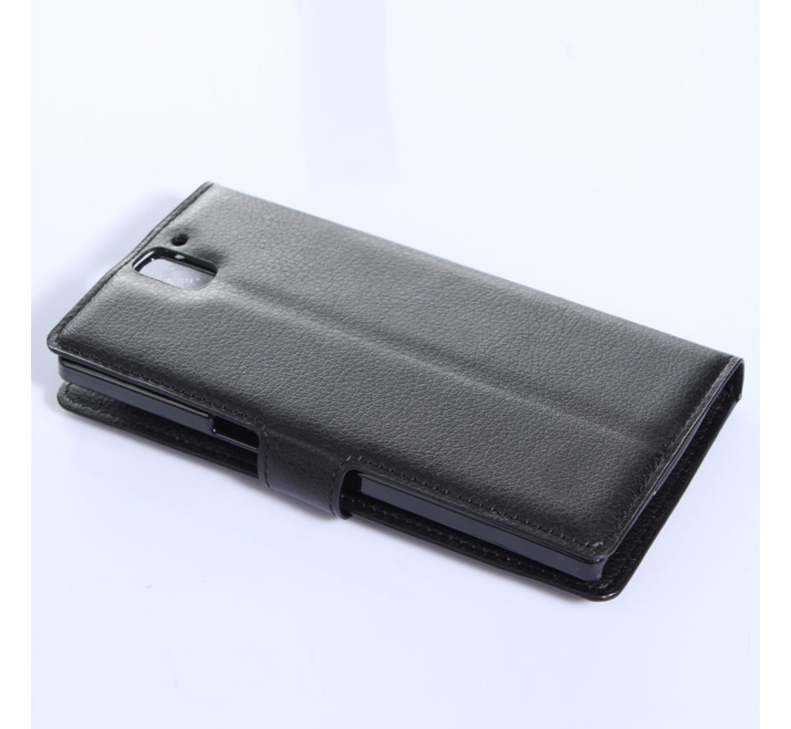 OnePlus One Wallet Flip Case Zwart