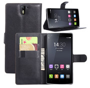 OPPRO OnePlus One Wallet Flip Case Schwarz