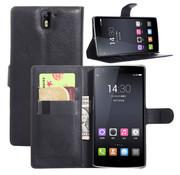 OPPRO OnePlus One Wallet Flip Case Zwart