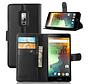 OnePlus 2 Wallet Flip Case Zwart